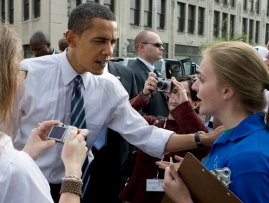 My interview with Obama in Indianapolis in Spring 2008.