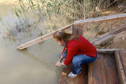 Visiting the Jordan River in 2012.