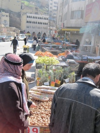 A market in downtown Amman.