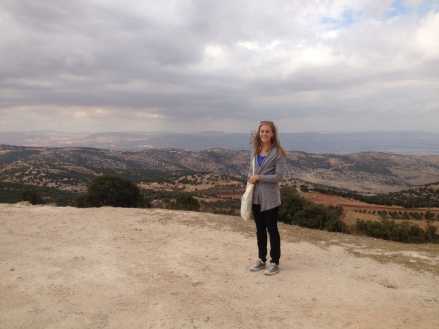 Overlooking the Holy Land from Tell Mar Eliyas.