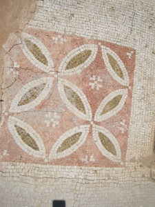 Some of the intricate mosaics, which are still intact, despite the site's lack of roof.