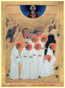 An icon depicting the monks' death