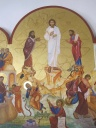 Icon of the Transfiguration in Anjara, Jordan.