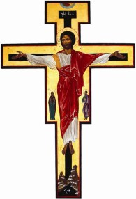 The Tibhirine cross, specially designed by Christian with his Muslim neighbors in mind.