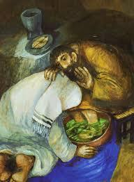 Sieger Köder's depiction of Jesus washing Peter's feet.