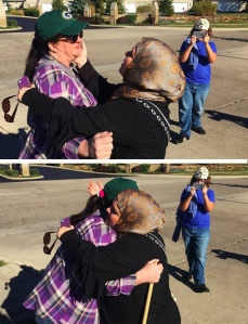 "A Muslim woman embraced a lone protester outside an Ohio mosque on Saturday. After visiting the mosque at the encouragement of the worshippers, the protester said, ""I had no idea Muslims could be nice to me, even after I stood out there with those signs. Sorry."""